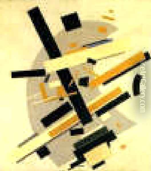 Suprematism (Supremus N58 With Yellow And Black) Oil Painting - Kazimir Severinovich Malevich