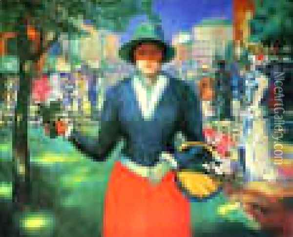 Flower Girl Oil Painting - Kazimir Severinovich Malevich
