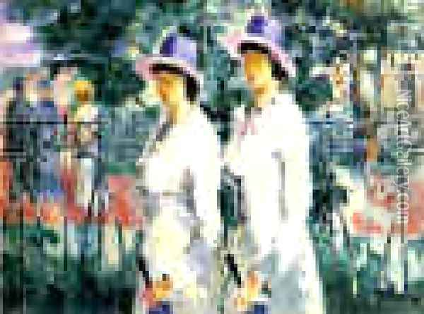 Sisters Oil Painting - Kazimir Severinovich Malevich