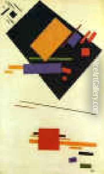 Suprematism Oil Painting - Kazimir Severinovich Malevich