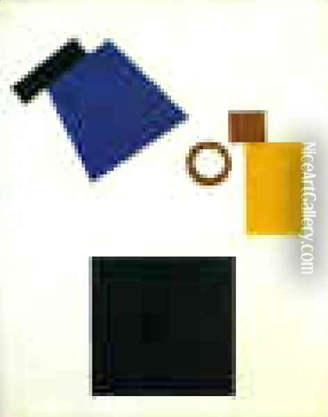 Suprematism Self Portrait In Two Dimensions Oil Painting - Kazimir Severinovich Malevich