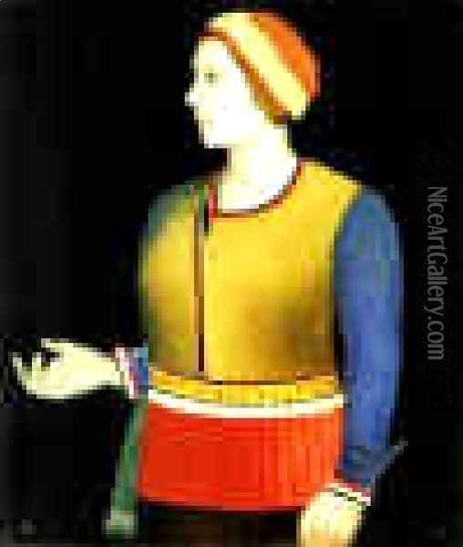 Portrait Of The Artists Wife Oil Painting - Kazimir Severinovich Malevich