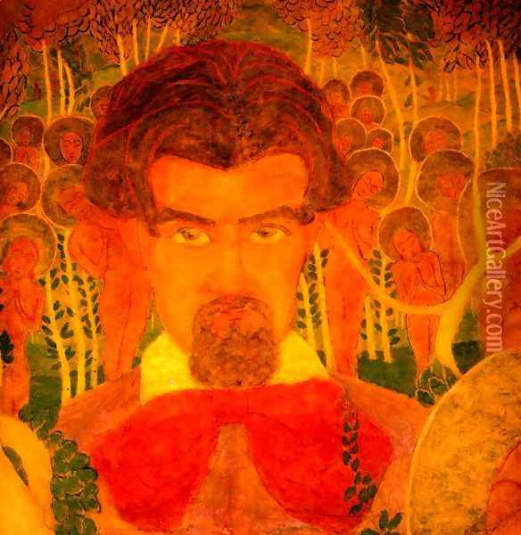 self portrait Oil Painting - Kazimir Severinovich Malevich