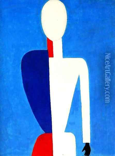 Prototype of a new image Oil Painting - Kazimir Severinovich Malevich
