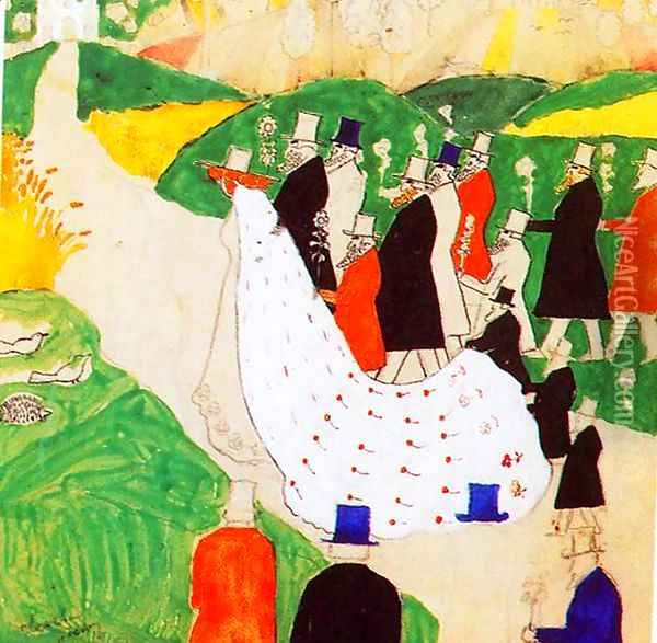 The wedding Oil Painting - Kazimir Severinovich Malevich