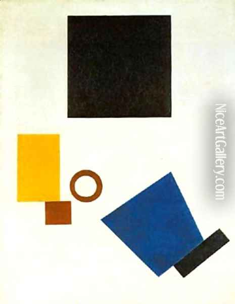 Dimensions 1915 Oil Painting - Kazimir Severinovich Malevich