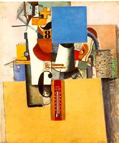 Soldier of the First Division Oil Painting - Kazimir Severinovich Malevich