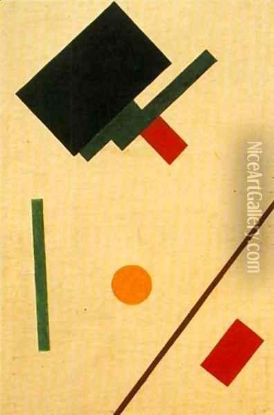 Suprematist Composition 1915 Oil Painting - Kazimir Severinovich Malevich