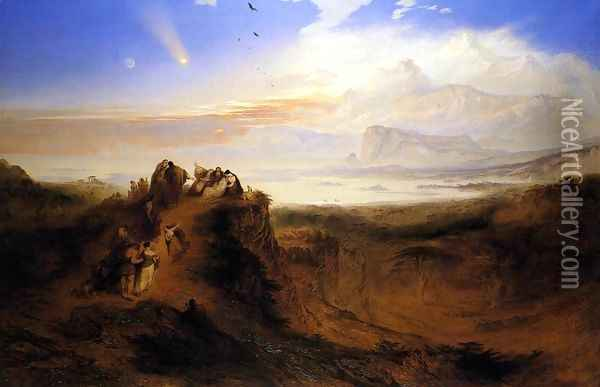 The Eve of the Deluge 1840 Oil Painting - John Martin
