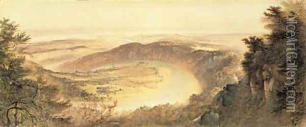 The Wye Valley Oil Painting - John Martin