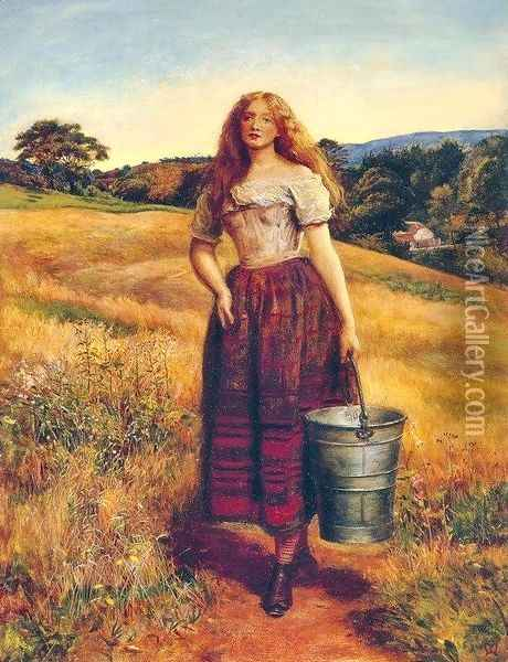 The Farmer's Daughter Oil Painting - Sir John Everett Millais