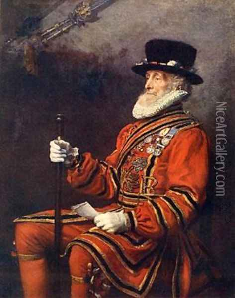 A Yeoman of the Guard Oil Painting - Sir John Everett Millais