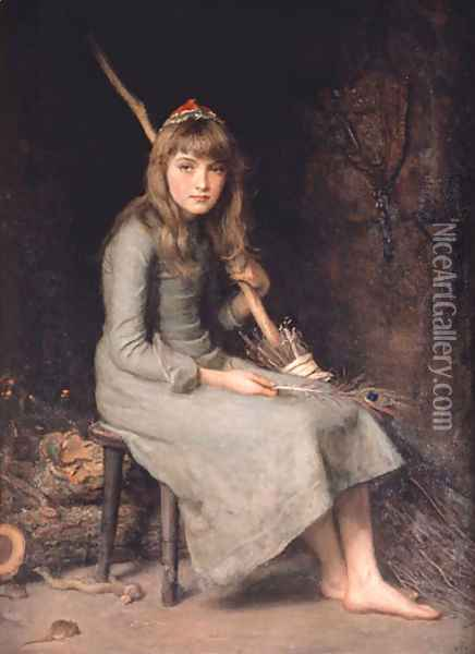 Cinderella Oil Painting - Sir John Everett Millais
