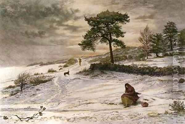 Blow, Blow Thou Winter Wind Oil Painting - Sir John Everett Millais