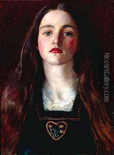 Portrait of a Girl (Sophie Gray) Oil Painting - Sir John Everett Millais