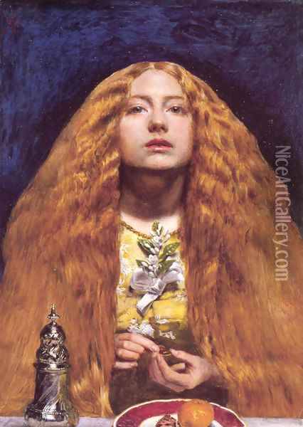 The Bridesmaid Oil Painting - Sir John Everett Millais