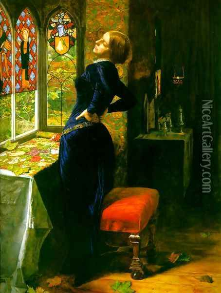 Mariana in the Moated Grange Oil Painting - Sir John Everett Millais