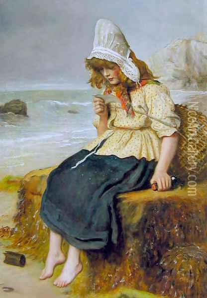 Message from the Sea Oil Painting - Sir John Everett Millais