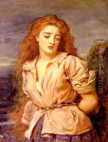 The Matyr of the Solway Oil Painting - Sir John Everett Millais