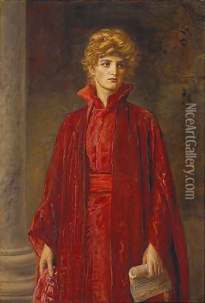 Portia (Kate Dolan) Oil Painting - Sir John Everett Millais