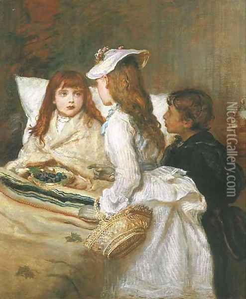 Getting Better Oil Painting - Sir John Everett Millais