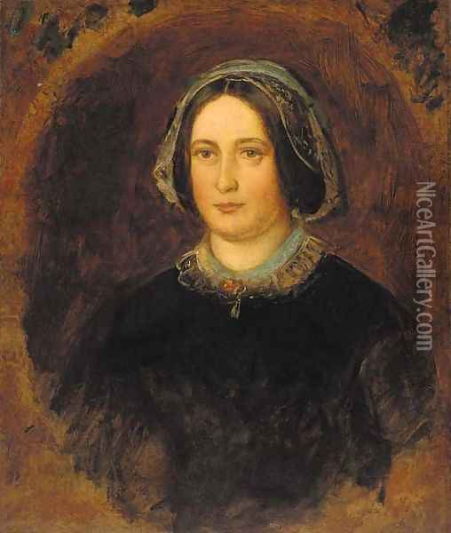 Portrait of Mrs William Evamy Oil Painting - Sir John Everett Millais