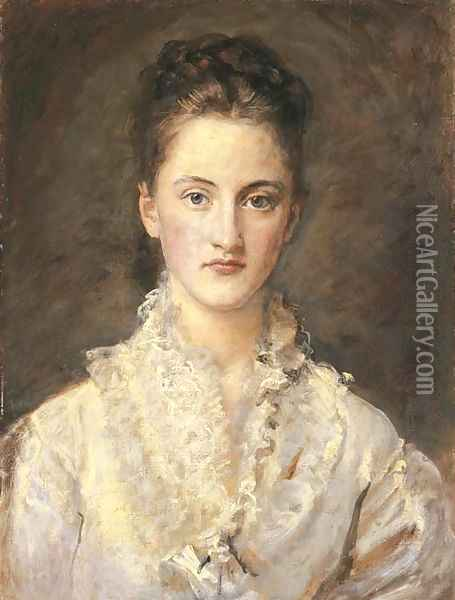 Portrait of the Artist's Daughter, Mary Oil Painting - Sir John Everett Millais