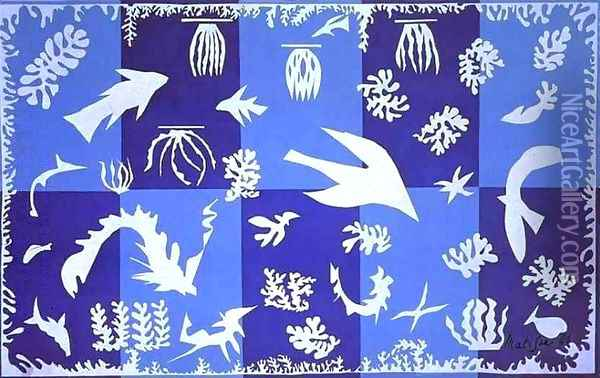 Polynesia, The Sea Oil Painting - Henri Matisse