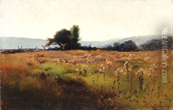 Mountain View from High Field 2 Oil Painting - Willard Leroy Metcalf