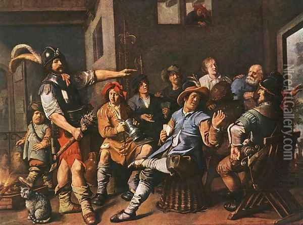 The Denying of Peter 1636 Oil Painting - Jan Miense Molenaer