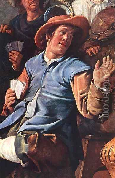 The Denying of Peter (detail) 1636 Oil Painting - Jan Miense Molenaer