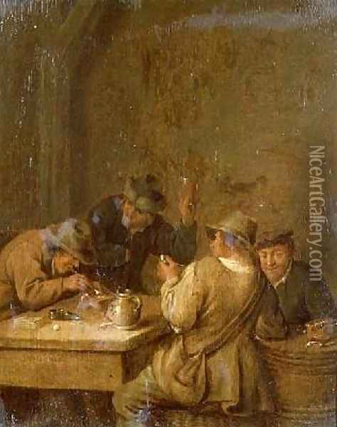 Peasants in a Tavern Oil Painting - Jan Miense Molenaer