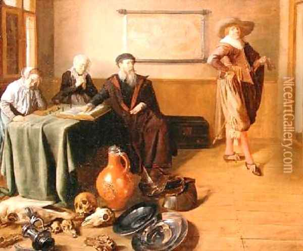 The Departure of the Prodigal Son 1630 Oil Painting - Jan Miense Molenaer