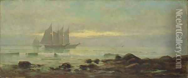 Shrimpers Returning from Work Oil Painting - Edward Moran