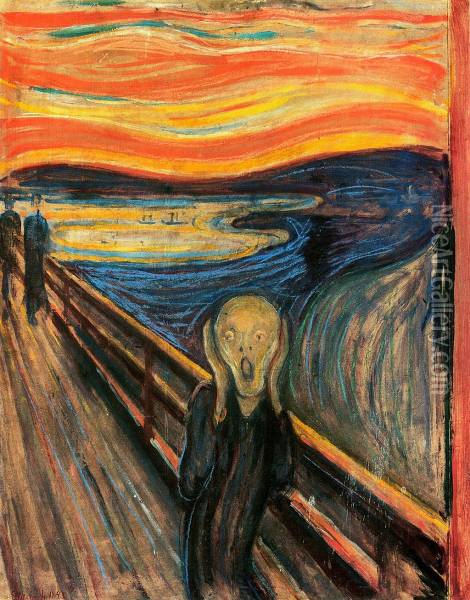 The Scream Oil Painting - Edvard Munch
