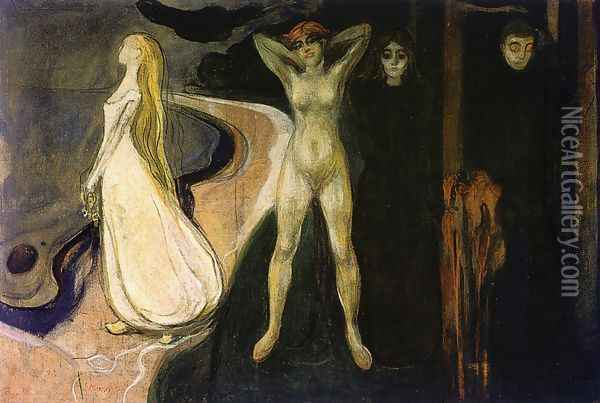 The Woman in Three Stages Oil Painting - Edvard Munch