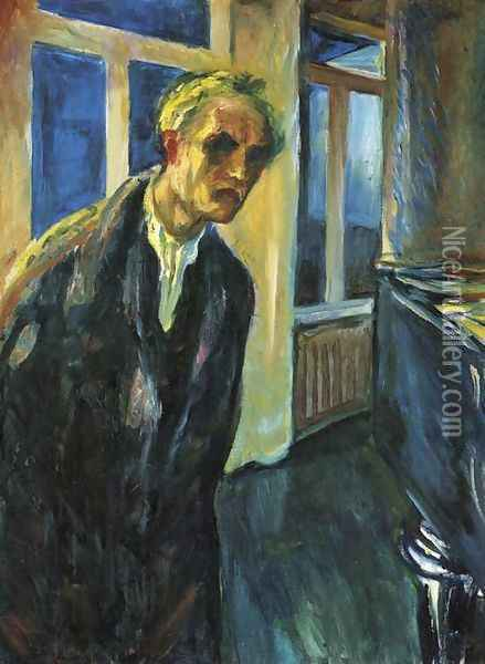 Self-Portrait. The Night Wanderer Oil Painting - Edvard Munch