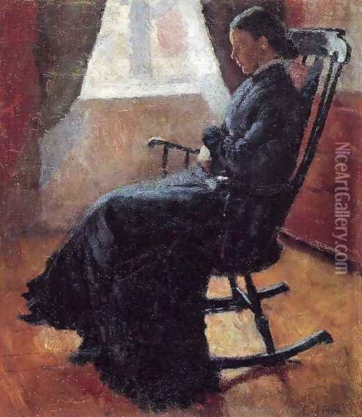 Aunt Karen in the Rocking Chair Oil Painting - Edvard Munch