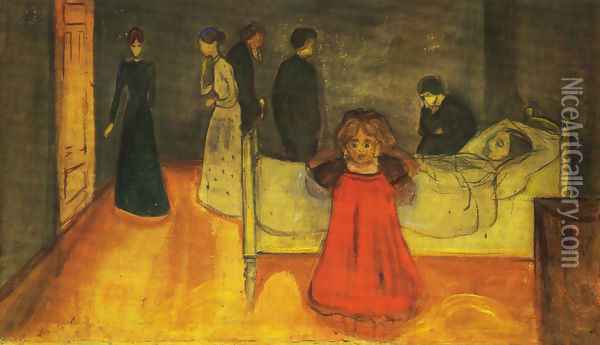 The Dead Mother and the Child Oil Painting - Edvard Munch