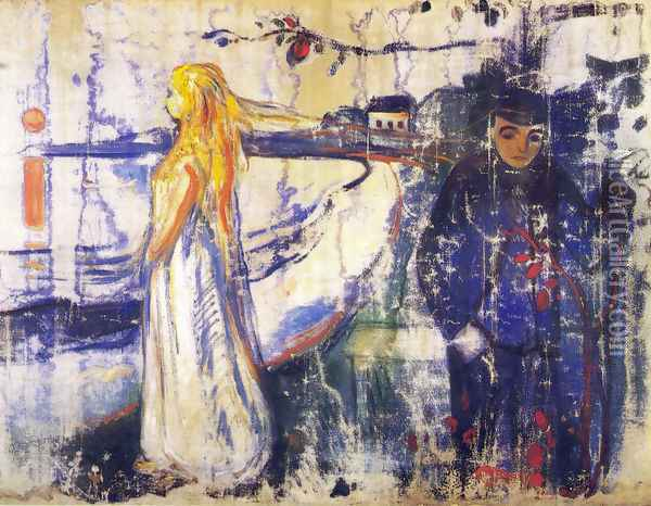 Separation 1894 Oil Painting - Edvard Munch
