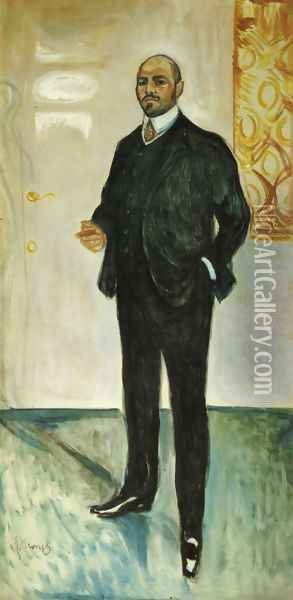 Walter Rathenau 1907 Oil Painting - Edvard Munch