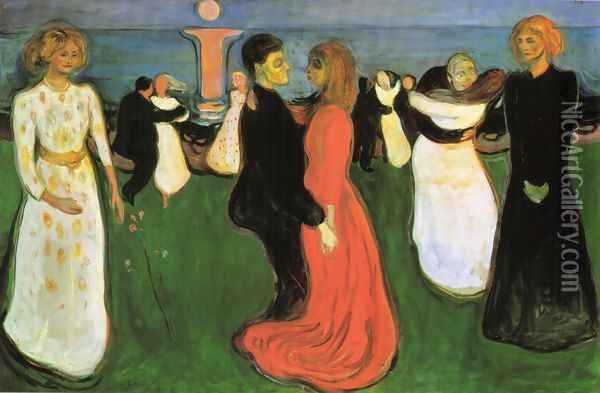 The Dance Of Life Oil Painting - Edvard Munch