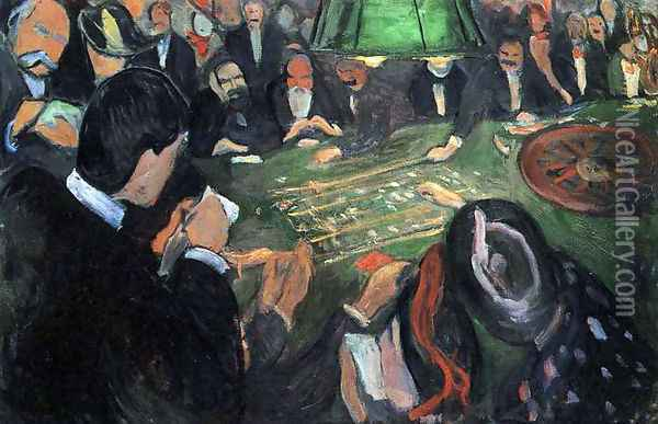 The Roulette Oil Painting - Edvard Munch
