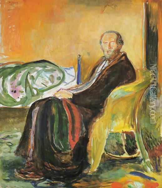 Self-Portrait after Spanish Influenza Oil Painting - Edvard Munch