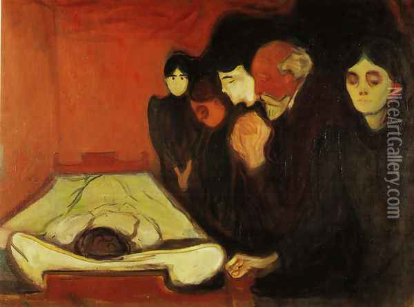 The Death Bed Oil Painting - Edvard Munch