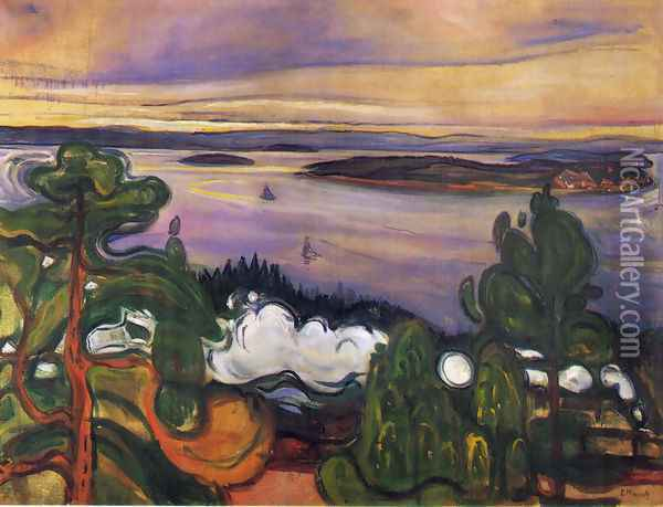 Train Smoke 2 Oil Painting - Edvard Munch