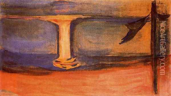 Asgardstrand Oil Painting - Edvard Munch