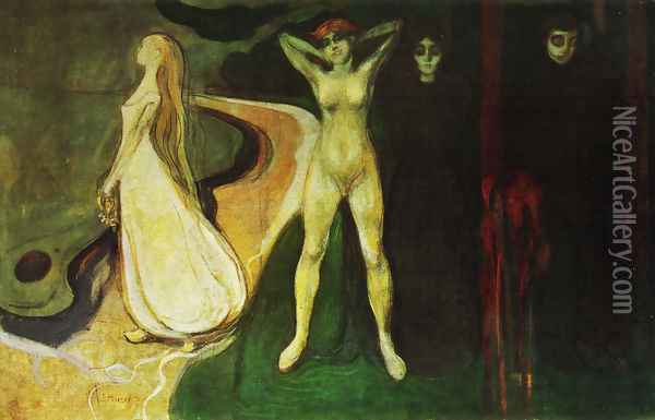 Three ages of women 1894 Oil Painting - Edvard Munch