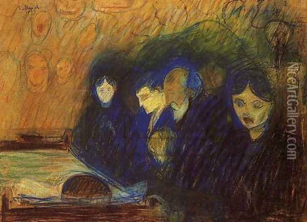 By the Deathbed 2 Oil Painting - Edvard Munch