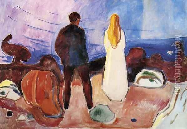 The Lonely Ones Oil Painting - Edvard Munch